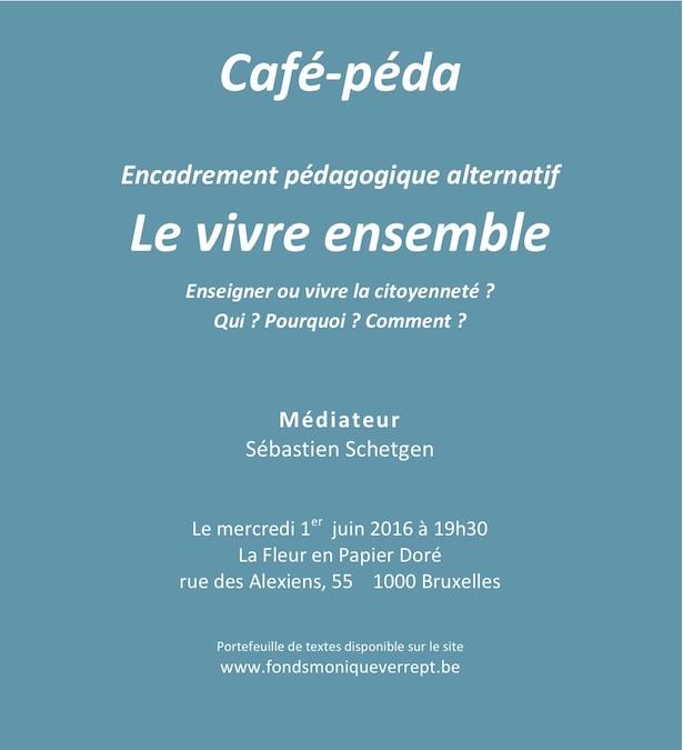 Vivre Ensemble - Café-Péda - 1er juin 2016 à 19h30 - La Petite Fleur en Papier Doré